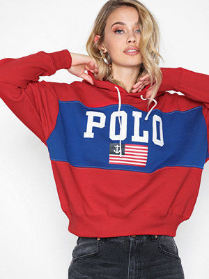 Polo Ralph Lauren Rlxd Flag Hd-Long Sleeve-Knit Red