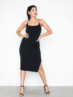 River Island Tink Trim Midi Dress Black