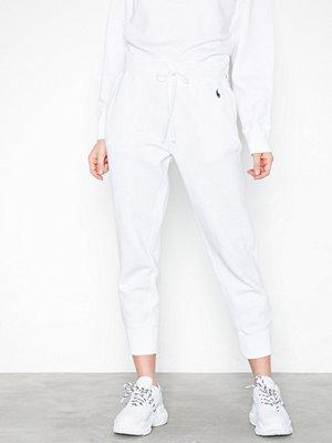Polo Ralph Lauren vita byxor Sweatpant-Ankle-Pant White