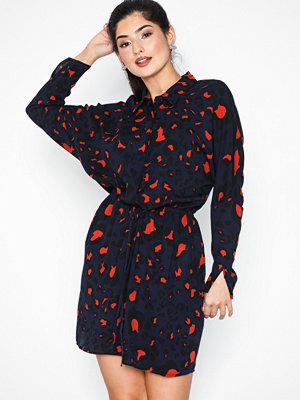 Ax Paris Long Sleeve Dress Navy