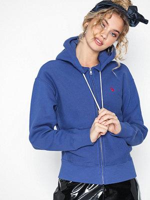 Street & luvtröjor - Polo Ralph Lauren Ls Fz Hoodie-Long Sleeve-Knit Dark Blue