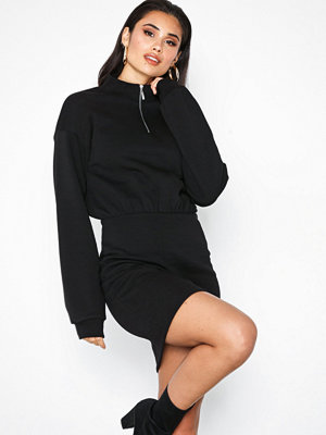 NLY Trend Zip Sweat Dress Svart