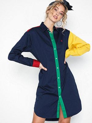 Polo Ralph Lauren Ls Blke Dr-Long Sleeve-Casual Dress Blue