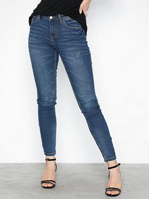 Jacqueline de Yong Jdymagic Skinny Rw Medium Blue Noos Blå