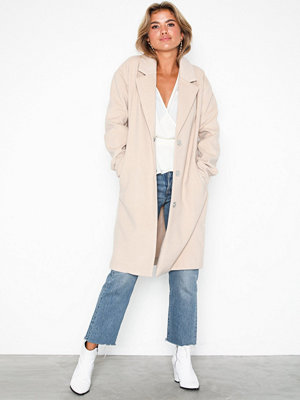 NLY Trend Simple Straight Coat Beige