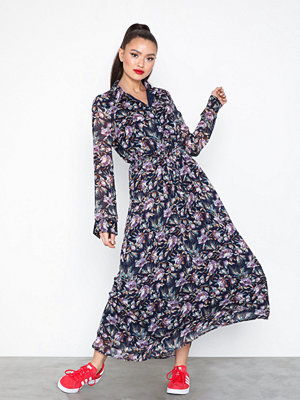 Object Collectors Item Objbelina L/S Long Dress a Div Mörk Blå