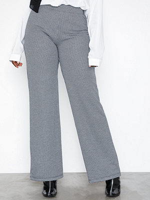 Sisters Point grå byxor Pul Pants Black/White