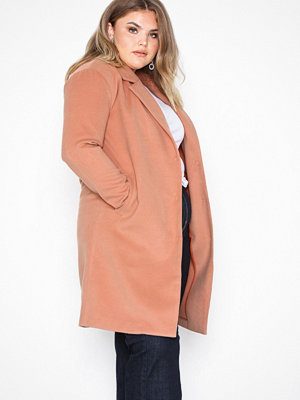 NLY Trend Simple Straight Coat Rosa