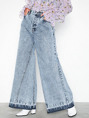 NLY Trend Great Wide Denim Light Blue Denim