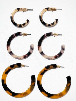 Freedom by Topshop örhängen Tort Hoop 3 Multi Pack Brown