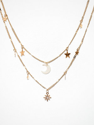 Freedom by Topshop halsband Moon and Star Necklace