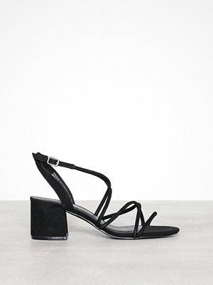 New Look Tube Strap Low Heel Sanda Black