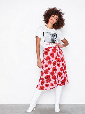 Jacqueline de Yong Jdyindie Midi Wrap Skirt Wvn Ljus Rosa