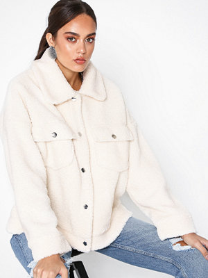 Missguided Borg Trucker Cream