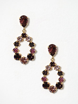 Caroline Svedbom örhängen Delia Earrings Burgundy