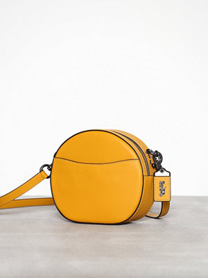 Coach omönstrad axelväska Glovetanned leather canteen crossbody Maize