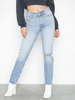 Gina Tricot Original Slim Jeans Lt Blue Destroy Light Blue