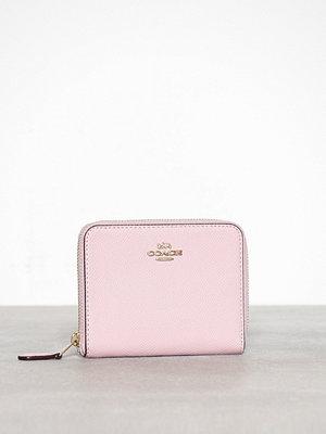 Plånböcker - Coach Crossgrain Leather Small Zip Around Wallet Rosa