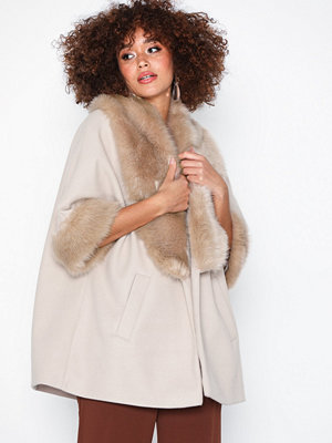 River Island Fur Collar Swing Coat