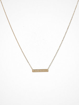 Pieces halsband Pcsille Necklace Giftcard Box Guld