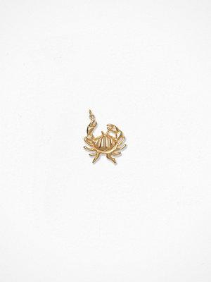 Blue Billie smycke Crab Charm Guld