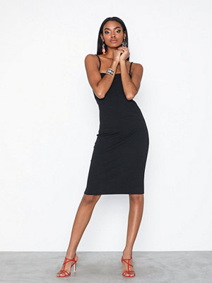 NLY Trend Ribbed Straight Neckline Dress