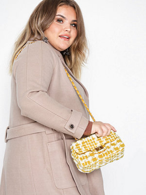 NLY Accessories axelväska Lovely Tweed Bag Mustard