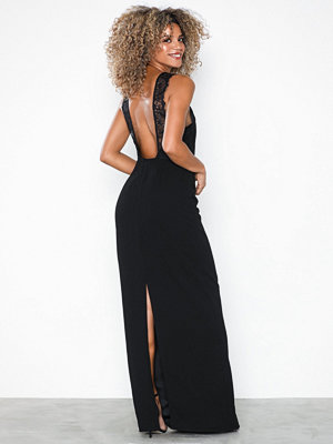 NLY Eve Lace Back Crepe Gown