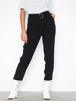 River Island byxor Ring Detail Tapered Trousers Black