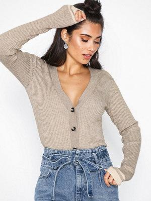 NORR Malou knit cardigan Beige