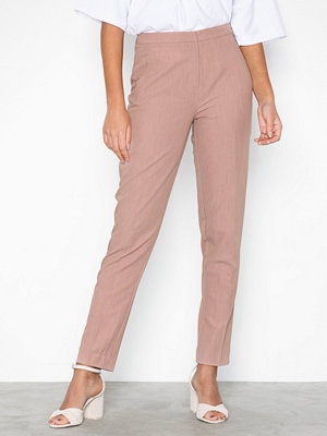 Pieces persikofärgade byxor Pcfelice Mw Ankle Pants D2D