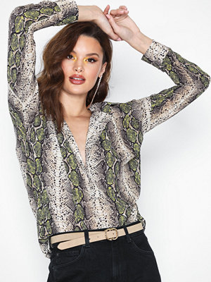 Missguided Snake Print Top
