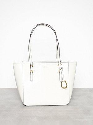 Lauren Ralph Lauren vit axelväska Shopper Medium Natural
