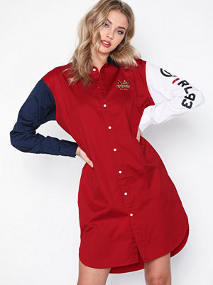 Polo Ralph Lauren Ls Blke Dr-Long Sleeve-Casual Dress Red
