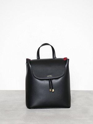Lauren Ralph Lauren svart ryggsäck Flap Backpack Medium