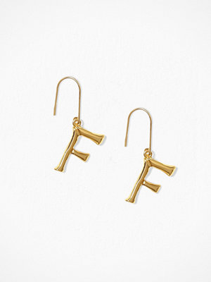 NLY Accessories örhängen Bamboo Letter Earrings F