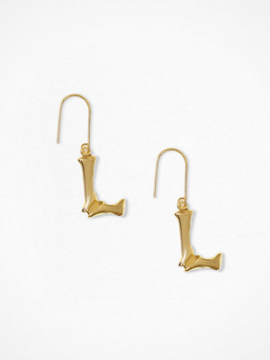 NLY Accessories örhängen Bamboo Letter Earrings L
