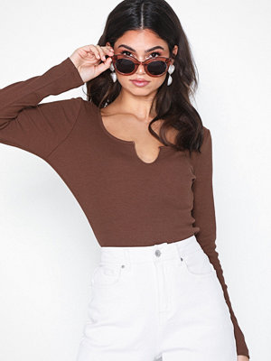 NLY Trend Rib V LS Top