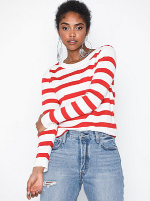 Selected Femme Slfalina Stripe Ls Knit O-Neck Noos