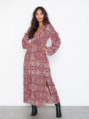 Glamorous Long Sleeve Snakeskin Dress