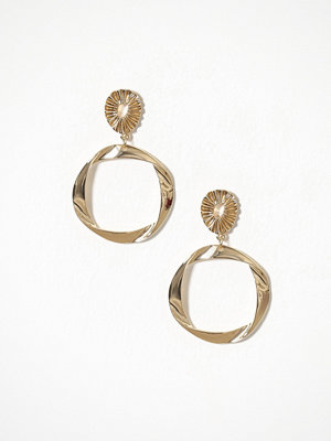 River Island örhängen Folded Hoop Drop