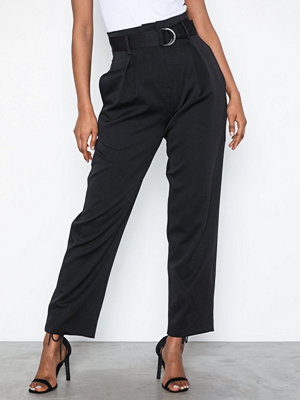Glamorous svarta byxor High Waist Cropped Pants