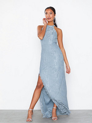 NLY Eve Scallop Lace Slit Gown