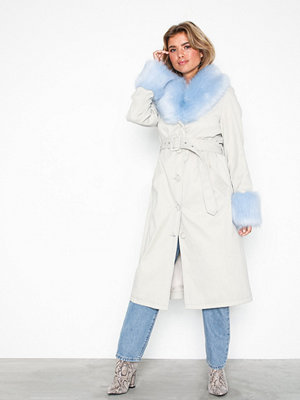 NLY Trend Fur Detailed Belted Coat