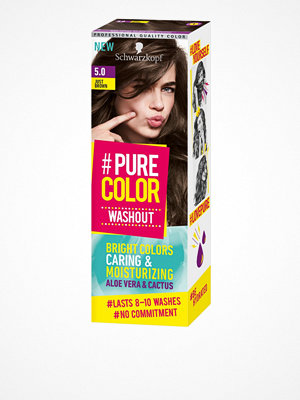 Hårprodukter - Schwarzkopf Pure Color Washout 5.0 Just Brown