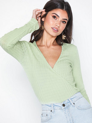 NLY Trend Ribbed Wrap Top