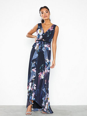 Little Mistress Viola Floral Plunge Maxi Dress