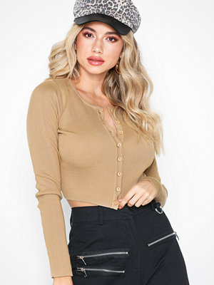 Missguided Button Long Sleeve Knitted Top
