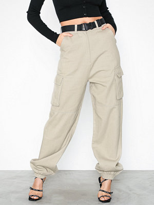 Missguided omönstrade byxor Cuffed Utility co Ord Trouser with seatbelt