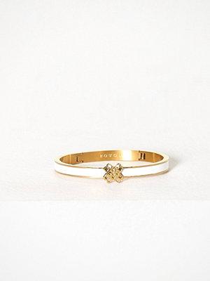Bovou armband Four B Guld/Vit